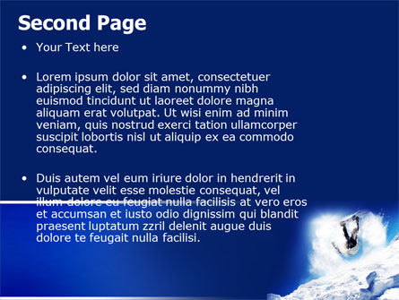Snowboarding Tricks PowerPoint Template, Slide 2, 06770, Sports — PoweredTemplate.com