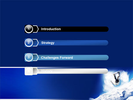 Snowboarding Tricks PowerPoint Template, Slide 3, 06770, Sports — PoweredTemplate.com