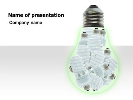 Technology and Science: Energiesparlampen PowerPoint Vorlage #06772