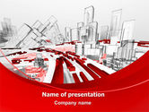 Construction: Abstract City Collapse PowerPoint Template #06774