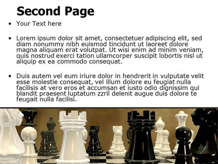 Chess Figures PowerPoint Template Slide 2