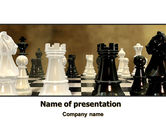 Business Concepts: Chess Figures PowerPoint Template #06776