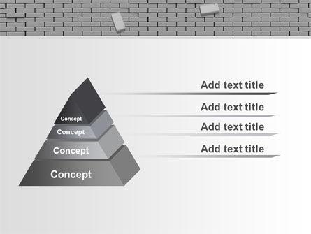 Broken Wall In Gray PowerPoint Template Slide 12