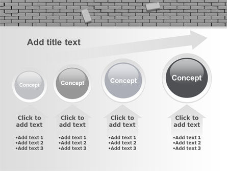 Broken Wall In Gray PowerPoint Template Slide 13