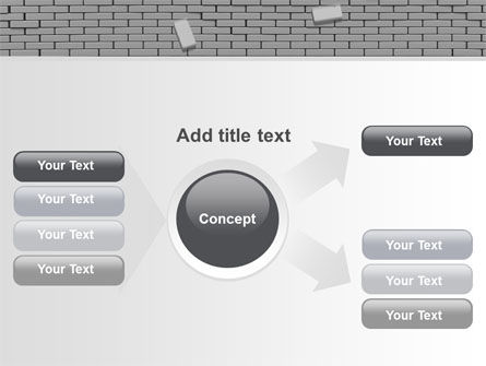 Broken Wall In Gray PowerPoint Template Slide 14