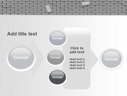 Broken Wall In Gray PowerPoint Template Slide 17