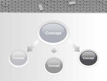 Broken Wall In Gray PowerPoint Template, Slide 4, 06781, Consulting — PoweredTemplate.com