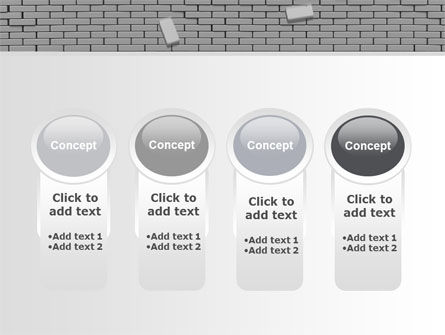 Broken Wall In Gray PowerPoint Template Slide 5