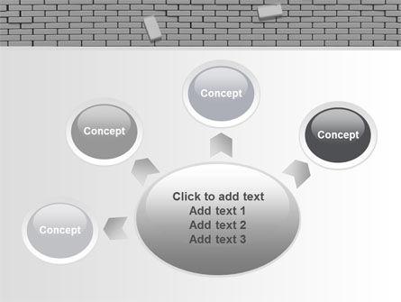 Broken Wall In Gray PowerPoint Template Slide 7