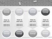 Broken Wall In Gray PowerPoint Template#18
