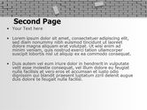 Broken Wall In Gray PowerPoint Template#2