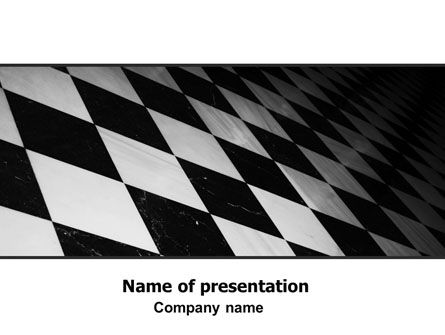 Abstract/Textures: Checkered Surface Free PowerPoint Template #06782