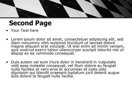 Checkered Surface PowerPoint Template Slide 2