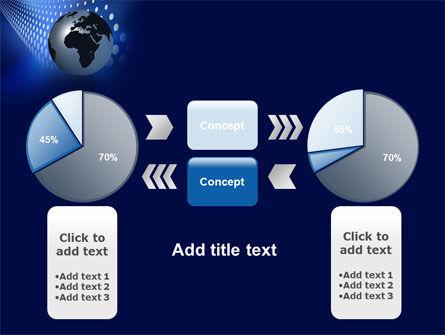 Globe in Blue PowerPoint Template Slide 11