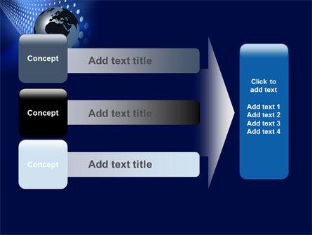 Globe in Blue PowerPoint Template Slide 12