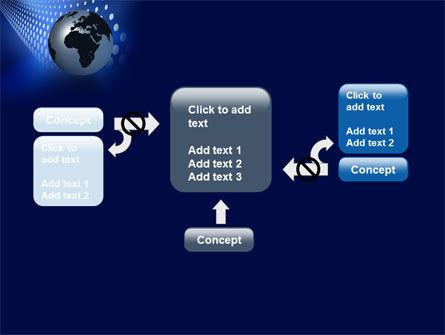 Globe in Blue PowerPoint Template Slide 13