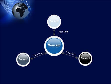 Globe in Blue PowerPoint Template Slide 14