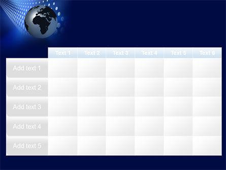 Globe in Blue PowerPoint Template Slide 15