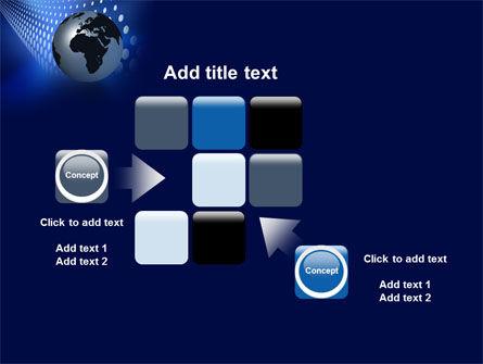 Globe in Blue PowerPoint Template Slide 16