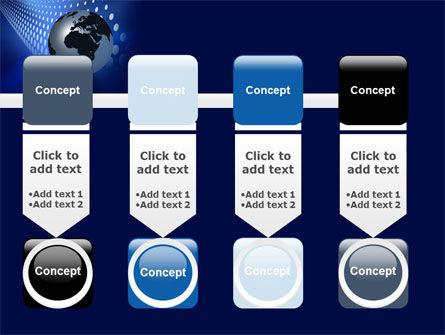 Globe in Blue PowerPoint Template Slide 18