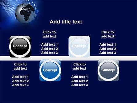 Globe in Blue PowerPoint Template Slide 19