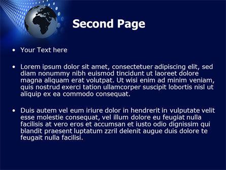 Globe in Blue PowerPoint Template Slide 2