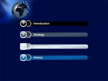 Globe in Blue PowerPoint Template Slide 3