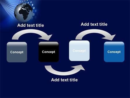 Globe in Blue PowerPoint Template Slide 4
