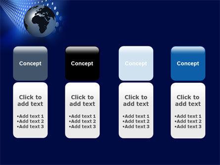 Globe in Blue PowerPoint Template Slide 5