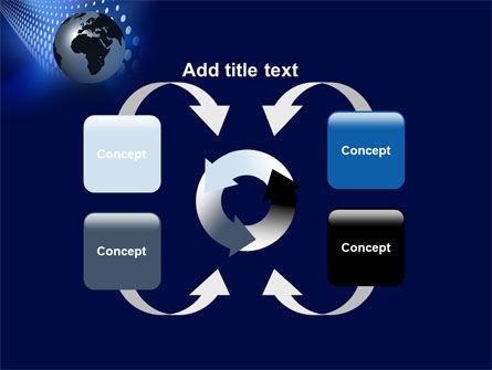 Globe in Blue PowerPoint Template Slide 6
