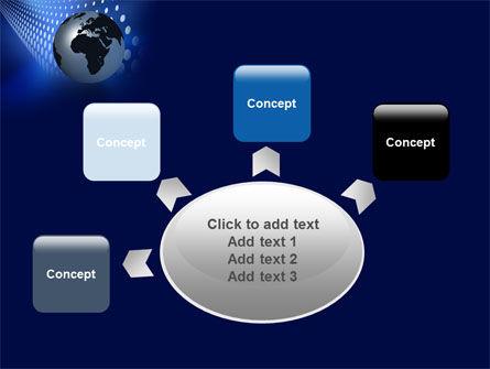 Globe in Blue PowerPoint Template Slide 7