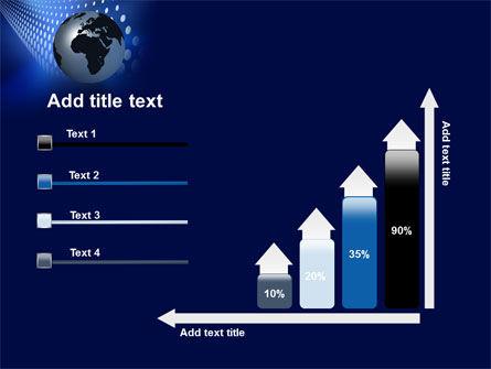Globe in Blue PowerPoint Template Slide 8