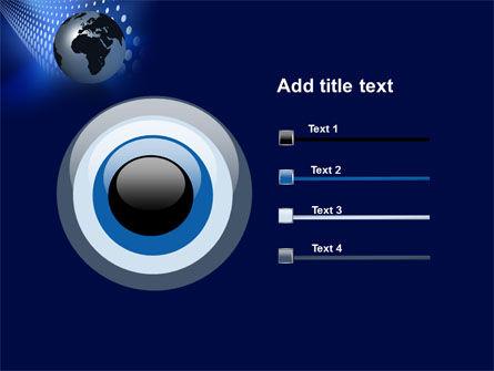 Globe in Blue PowerPoint Template Slide 9