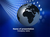 Global: Globe in Blue PowerPoint Template #06784
