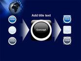 Globe in Blue PowerPoint Template#17