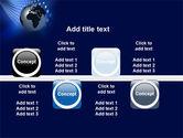 Globe in Blue PowerPoint Template#19