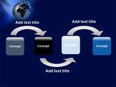 Globe in Blue PowerPoint Template#4