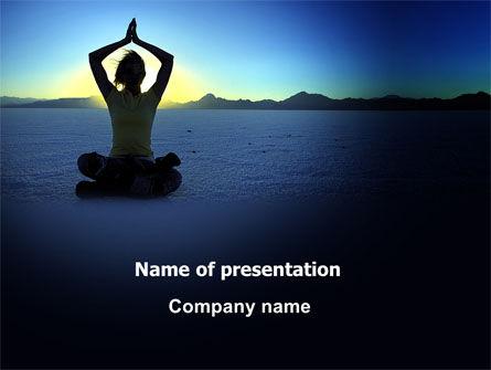 Contemplation PowerPoint Template, 06786, Religious/Spiritual — PoweredTemplate.com