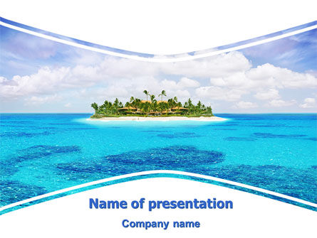 Careers/Industry: Atoll Reef PowerPoint Template #06787