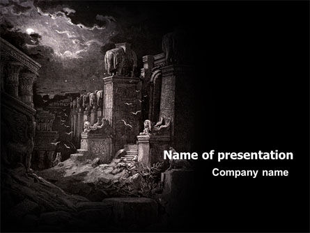 Ancient Ruins PowerPoint Template, 06790, Religious/Spiritual — PoweredTemplate.com