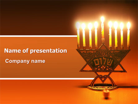Menorah Powerpoint Template Backgrounds 06791 Poweredtemplate
