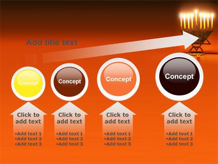 Menorah PowerPoint Template Slide 13