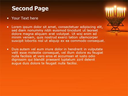 Menorah PowerPoint Template, Slide 2, 06791, Holiday/Special Occasion — PoweredTemplate.com