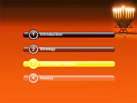 Menorah PowerPoint Template, Slide 3, 06791, Holiday/Special Occasion — PoweredTemplate.com