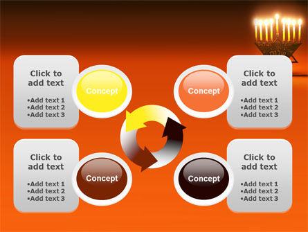 Menorah PowerPoint Template Slide 9