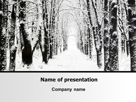 Winter Alley PowerPoint Template, 06792, Nature & Environment — PoweredTemplate.com