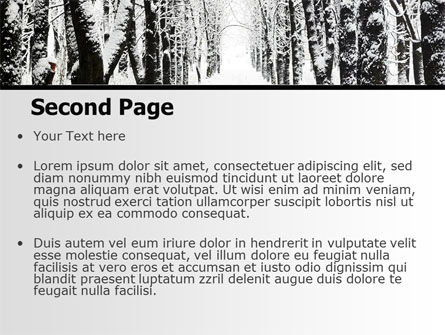 Winter Alley PowerPoint Template, Slide 2, 06792, Nature & Environment — PoweredTemplate.com