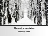 Nature & Environment: Winter Alley PowerPoint Template #06792