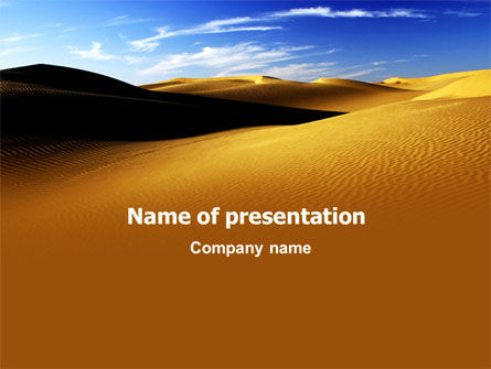 Nature & Environment: Sand Dune PowerPoint Template #06793