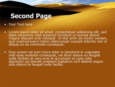 Sand Dune PowerPoint Template, Slide 2, 06793, Nature & Environment — PoweredTemplate.com